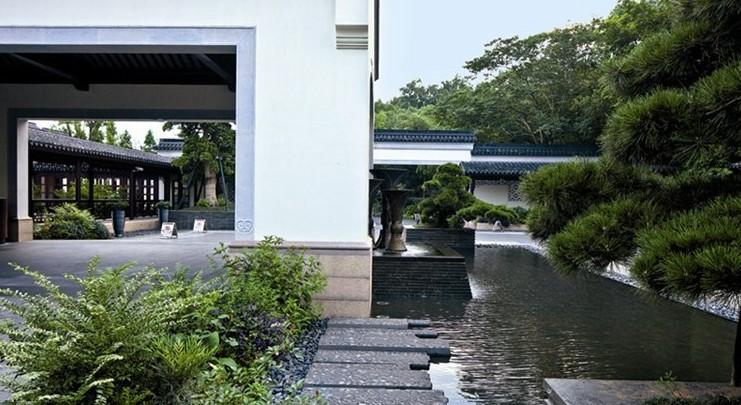 新中式景观,在借鉴古典园林的基础上,通过生态,场所精神,文化设计创造