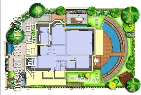 星沙碧桂园别墅花园设计方案推荐-品尚品园艺